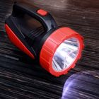 Geepas GSL5564 Rechargeable LED Emergency Searchlight - Handheld Portable Spotlight - Camping Torch - 16 Hours Working (Low Light) with Portable Handle - Outdoor LED Flashlight for Emergency Power Cuts [Energy Class A+]