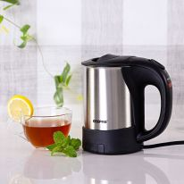 Geepas GK175 0.5L Electric Kettle 1000W - Portable Stainless Steel Body | On/Off Indicator with Auto Cut Off | Cordless Fast Boil Quiet for General Use, Otter Controller | 2 Year Warranty