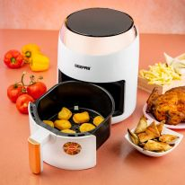 Digital Air Fryer With 3.5L Capacity, 1400W | Hot Air Circulation Technology For Oil Free Low Fat Dry Fry Cooking Healthy Food | Non-Stick Basket, Overheat Protection | 2 Years Warranty