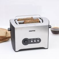 900W 2 Slice Toaster - Stainless Steel Bread Toaster with High Lift Function - Reheat/Cancel/Defrost Function & Removable Crumb Tray - Lift & Lock Function, Wide 2 Slots | 2 Year Warranty