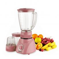 Geepas 400W 3 in 1 Multifunctional Blender | Stainless Steel Blades, 2 Speed Control with Pulse | Dry Mill & Mincer Included | Ice Crusher, Chopper, Coffee Grinder & Smoothie Maker - 2 Year Warranty