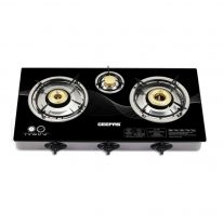 GK6880 Triple Burner Gas Cooker with Tempered Glass