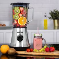 GSB44023UK 700W Glass Jug Food Blender Smoothie Maker | Stainless Steel Cutting Blades, 3 Speed Control with Pulse & 1.5L Glass Jar | Powerful Copper Motor Jug Blender & Ice Crusher